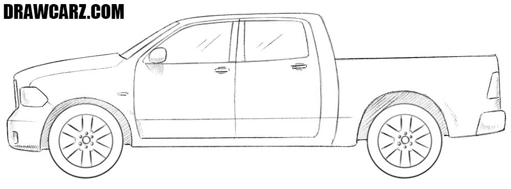 How to draw a Dodge Ram
