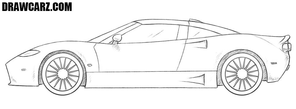 How to draw a Spyker C8