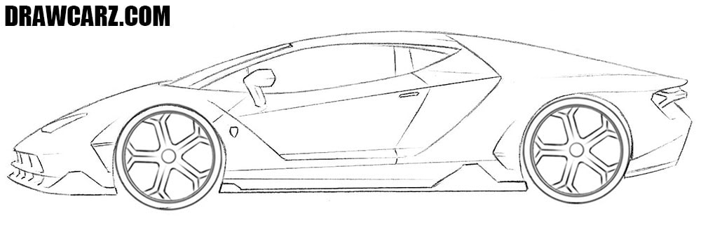 Lambo drawing tutorial