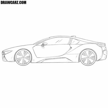 How to Draw a BMW i8