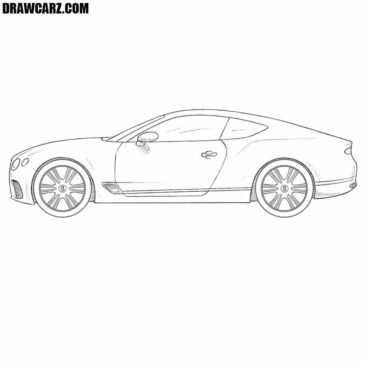How to Draw a Bentley Continental GT