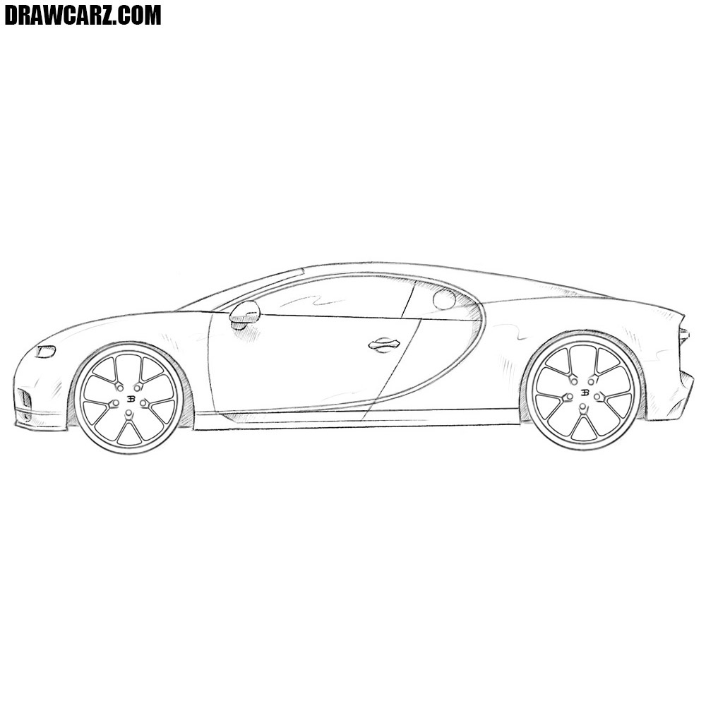 How to draw a bugatti chiron drawcarz