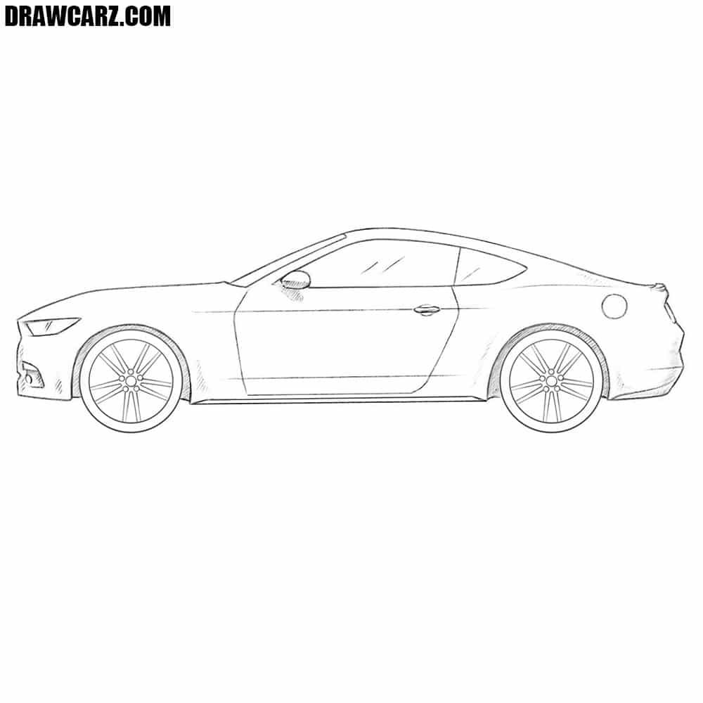 How To Draw A Ford Mustang