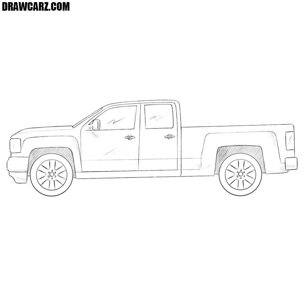 How To Draw A Gmc Truck