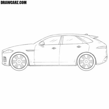 How to Draw a Jaguar F-Pace