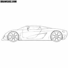 How to draw a Koenigsegg Regera