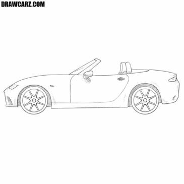 How to Draw a Mazda MX-5