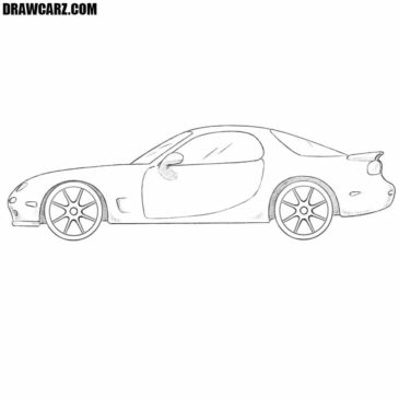 How to Draw a Mazda RX-7