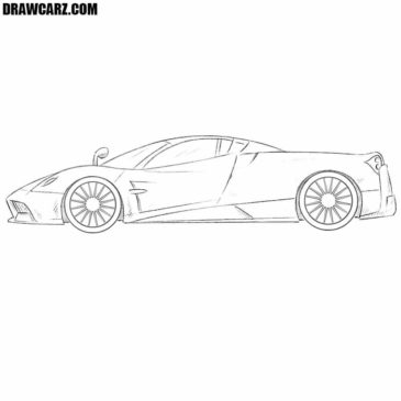 How to Draw a Pagani Huayra