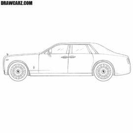 How to draw a Rolls Royce Phantom