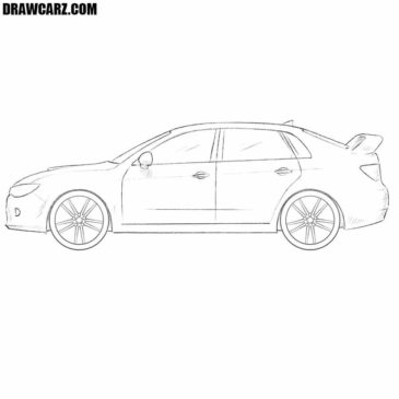 How to Draw a Subaru Impreza WRX