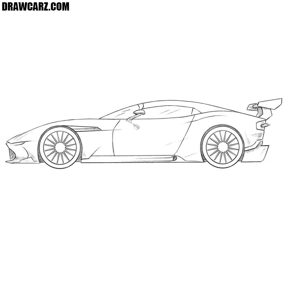 Aston Martin Sketch: How To Draw A Racing Car