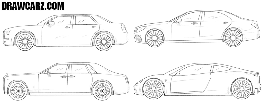 How to draw cars for beginners