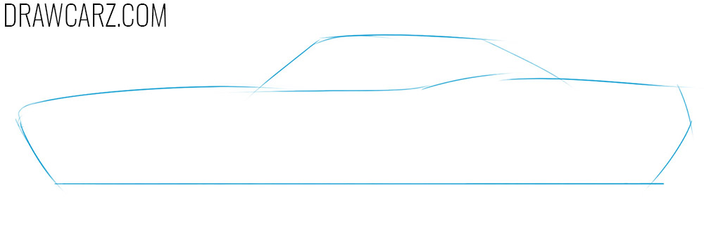 how to draw a drag car easy