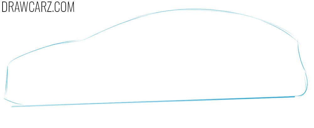 how to draw a ford from the side