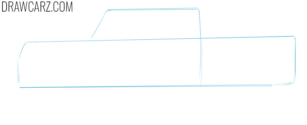 how to sketch a Jeep Truck