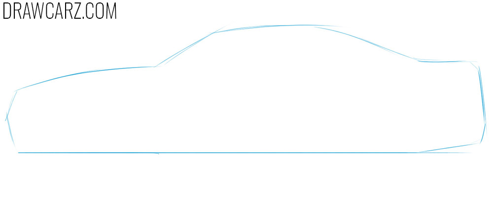 how to sketch a nissan skyline easy