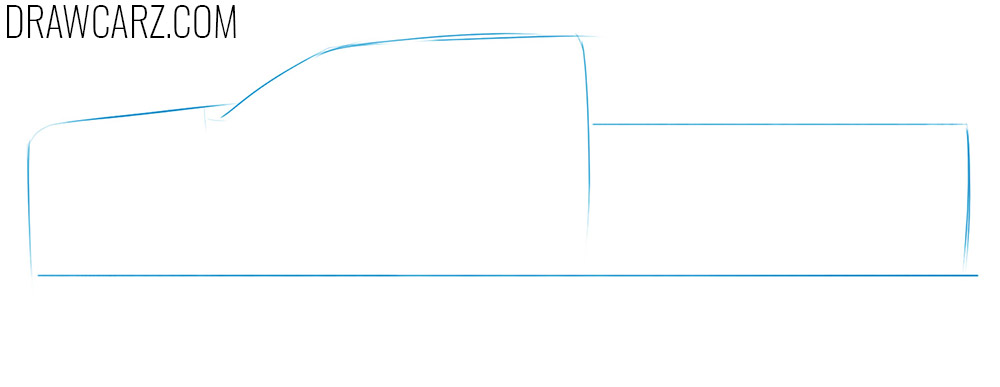 how to sketch a pickup truck