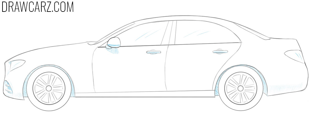how to draw a 3d car simple