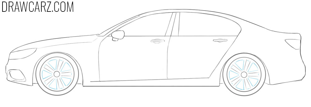 how to draw a simple car step by step