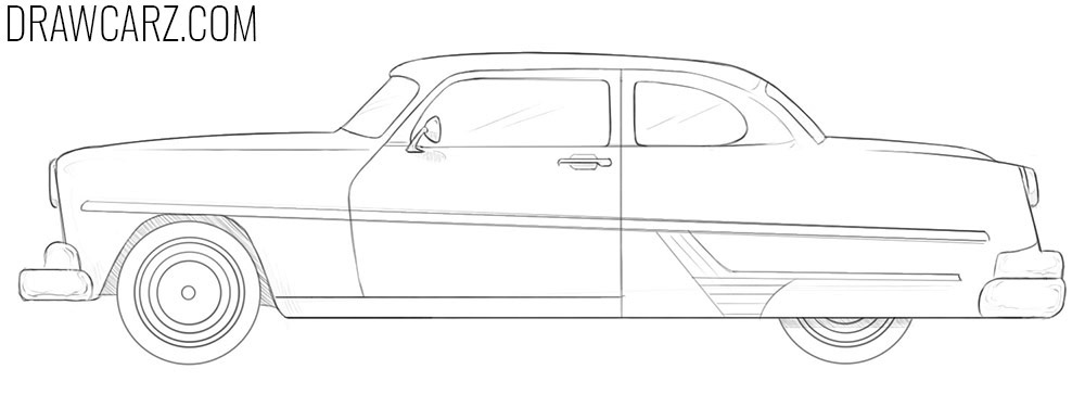 how to draw an Antique Car