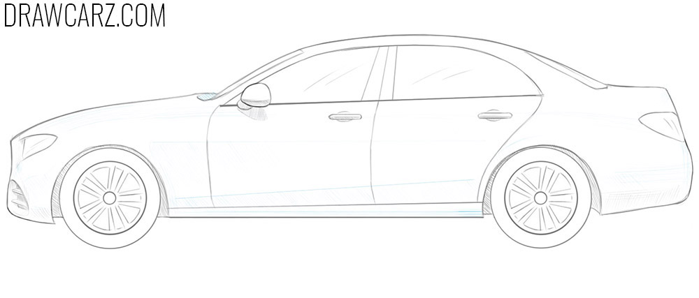 how to draw a 3d car step by step