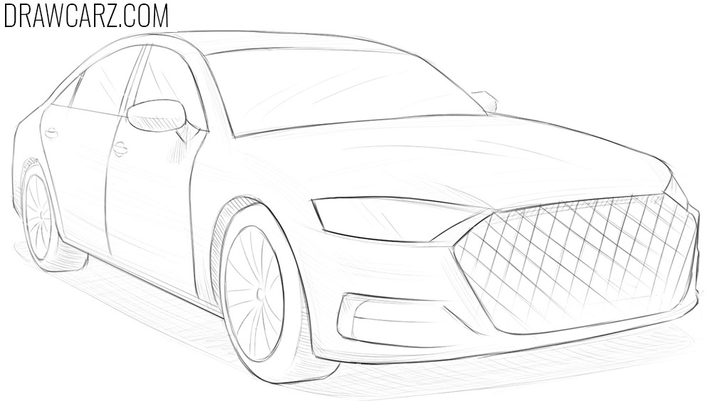 how to draw a car in perspective