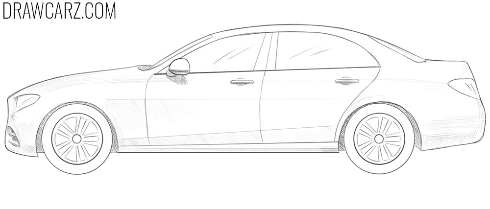 how to draw a 3d car