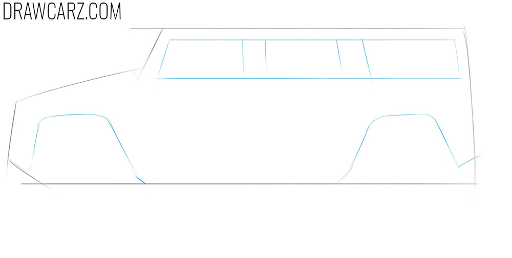 Learn how to sketch a big car