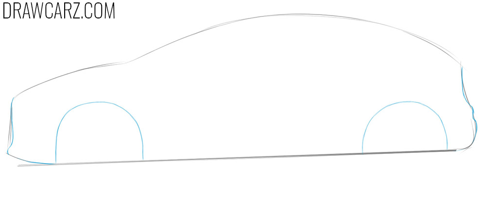 how to draw a ford car