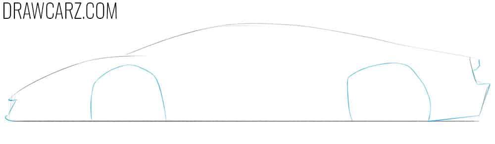 how to draw a lamborghini veneno step by step easy