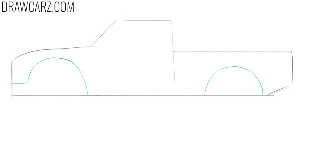 how to draw a off road truck easy