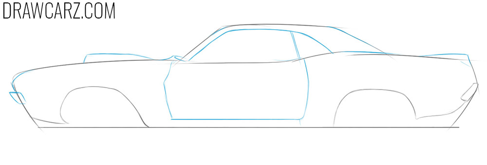 how to draw a race car step by step easy