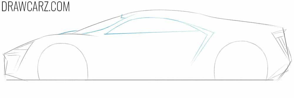 lykan hypersport car drawing