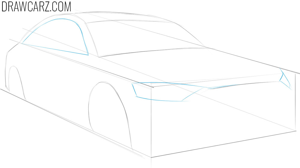 drawing a car in perspective