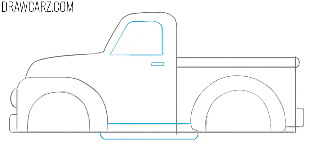 how to draw a Truck for Kids step by step