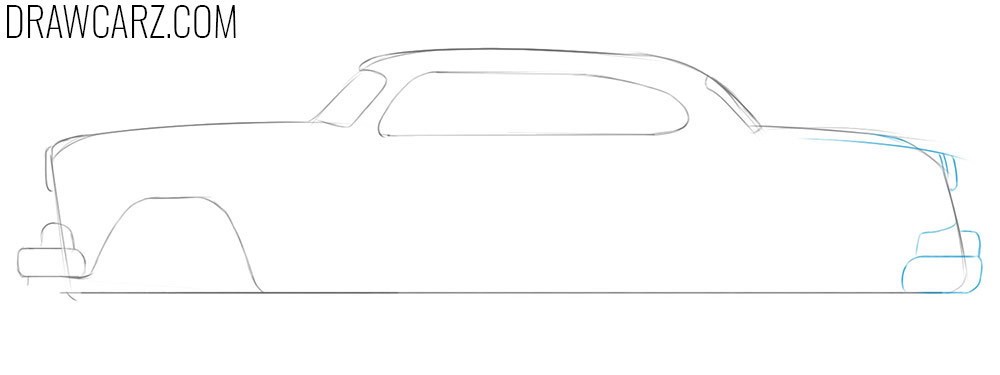 how to draw an antique car for beginners