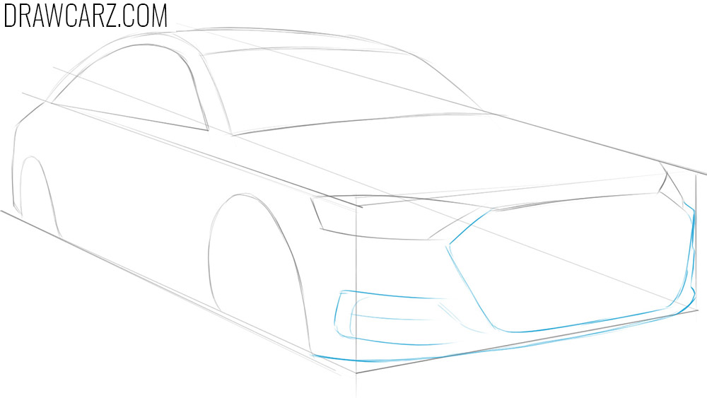 draw a car in perspective