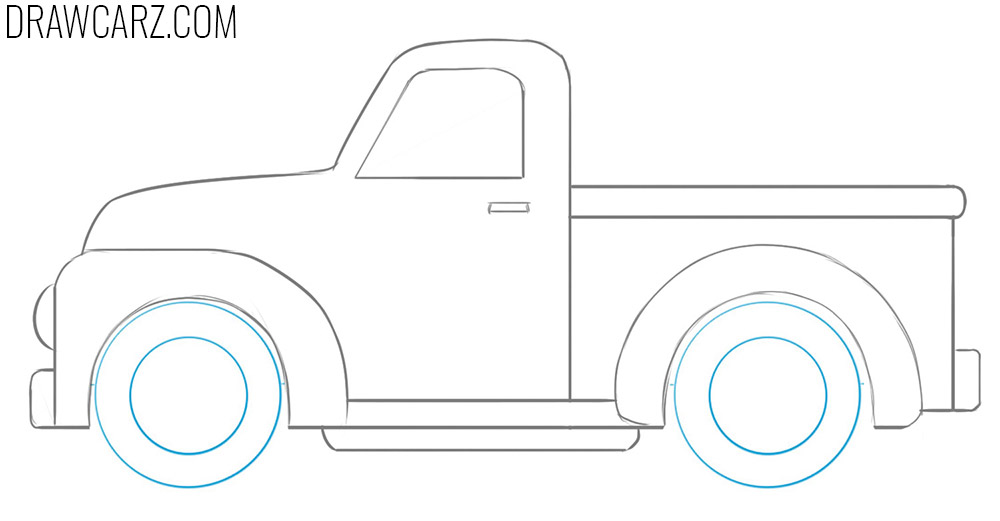 how to draw a Truck for Kids easy
