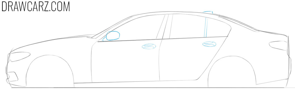 how to draw a bmw car easy