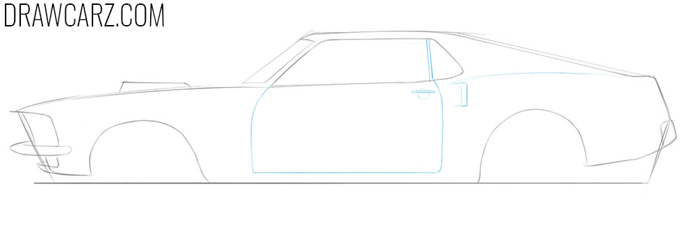 how to draw a classic car from the side
