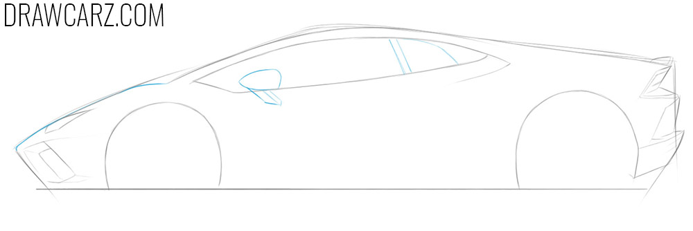 how to draw a lamborghini car step by step easy