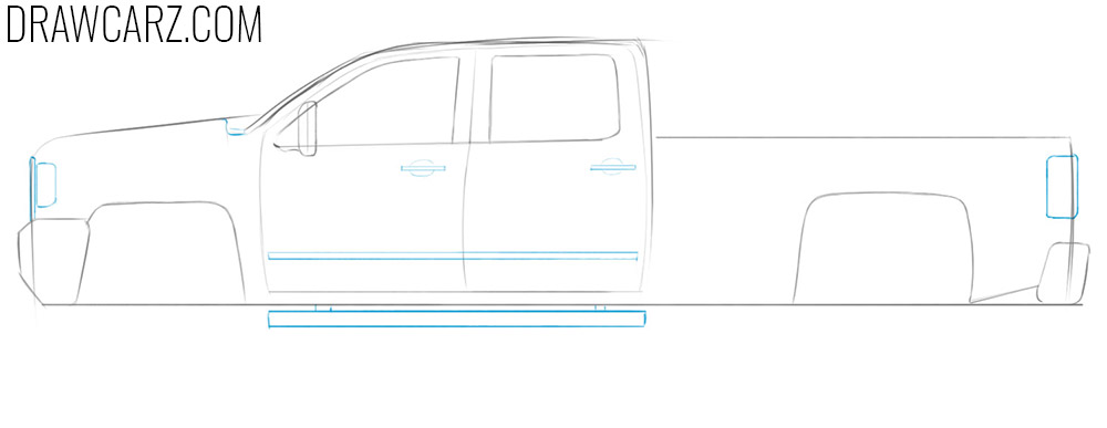 how to draw a pickup truck step by step