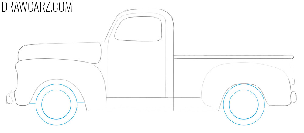 how to draw an Old Truck for beginners