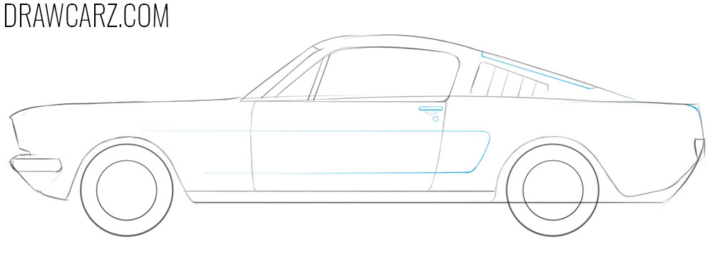how to draw an old fashioned car