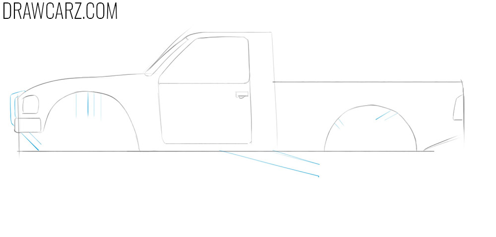 off road truck sketch