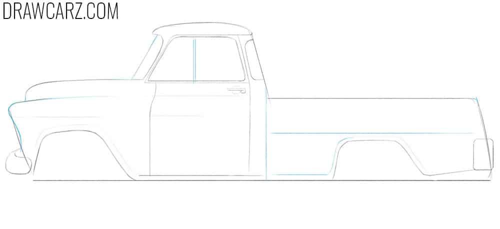 old truck sketch