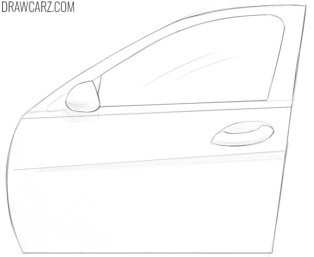 how to draw a Car Door
