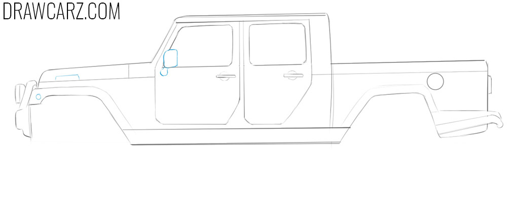 how to draw a Jeep Truck for beginners