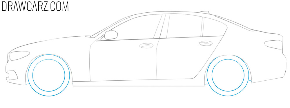 how to draw a bmw car step by step